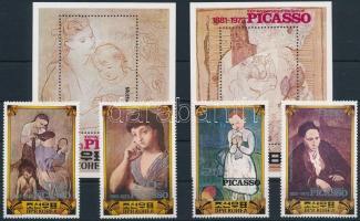 Picasso születésének 100. évfordulója sor + blokk Picasso set + block