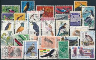 Bird 35 stamps, Madár motívum 35 db bélyeg