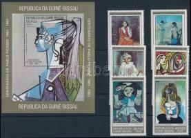 Picasso set + block Picasso születésének 100. évfordulója sor + blokk