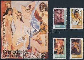 Picasso set + block Picasso születésének 100. évfordulója sor