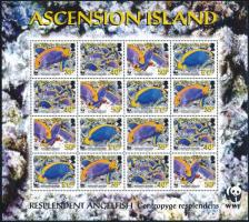 WWF Blue Princefish complete sheet with 4 sets, WWF  Kék herceghal 4 sort tartalmazó teljes ív
