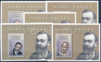 Centenary of Nobel Peace Prize mini sheet set + blockset HUNGARIKA 100 éves a Nobel-díj kisívsor+blokksor HUNGARIKA (Oláh György vegyész)