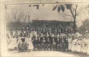 1930 Abaújvár, Falu ünnep, csoportkép, photo (EK) + POSTAI ÜGYN.