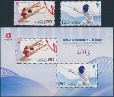 2013 Nemzetközi Sportjátékok sor Mi 4509-4510 + blokk Mi 194