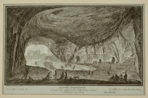 La grotta vicino a Santa Maria Cappella Vecchia, rézmetszet, papír, paszpartuban, 16×25 cm