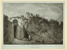 A Crypta Neapolitana látképe, rézmetszet, papír, paszpartuban, 29×39 cm