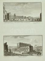 Nápoly látképei, 2 db rézmetszet, papír, 57×42 cm