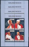 Pope John Paul II. mini sheet set, II. János Pál pápa halála kisívsor