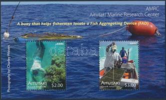 Aitutaki Tengeri kutatóintézet mini sheet set (6 diff) + block, Aitutaki Tengeri kutatóintézet kisív sor (6 klf) + blokk