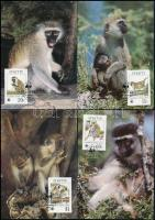 1986 WWF: majom sor Mi 184-187 4 db CM-en