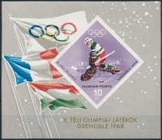 1967 Téli olimpia (III.) vágott blokk (3.000) (benyomódás)