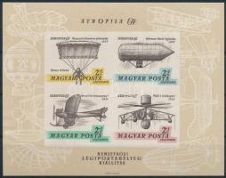 1967 Aerofila (I.) vágott blokk (6.000) (benyomódás)