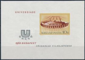1965 Universiade vágott blokk (4.000) (benyomódás)