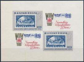 1965 WIPA vágott kisív (4.500) (benyomódás)