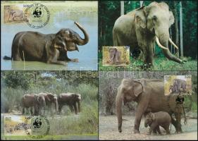 1986 WWF: Elefántok sor 4 db CM-en Mi 753-756