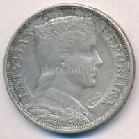 Lettország 1929. 5L Ag T:2,2- patina  Latvia 1929. 5 Lati Ag C:XF,VF patina  Krause KM# 9