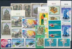25 stamps, mostly pairs, 25 db bélyeg javarészt párokban, közte teljes sorok stecklapon