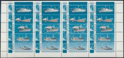 Fishing boats complete sheet, Halászhajók teljes ív