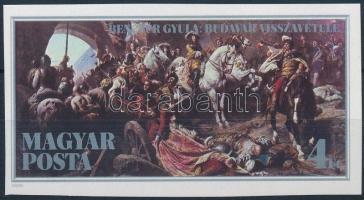 1986 Budavár visszavétele vágott bélyeg