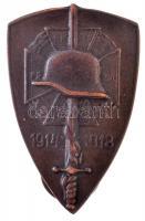 DN Országos Frontharcos Szövetség modern fém jelvény (20x39mm) T:2  Hungary ND Hungarian Front Fighters Association modern metal badge (20x39mm) C:XF