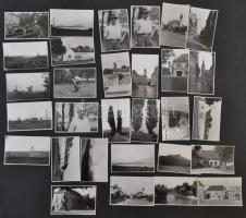 Ék Sándor (1902-1975) festőművész: Dunántúli tájak, Balaton, 30 db fotó jelzés nélkül, a szerző hagyatékából, 6x9 cm