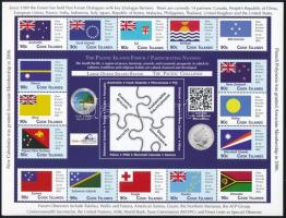 Pacific Islands Conference, Flags, 14 valuable + 16 valuable minisheet, Csendes-óceáni szigetek konferenciája, Zászlók, 14 értékes + 16 értékes kisív