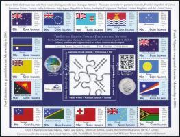 Pacific Islands Conference, Flags sheets with 14 + 16 values, Csendes-óceáni szigetek konferenciája, Zászlók, 14 értékes + 16 értékes kisív