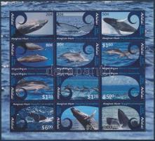 Whales mini sheet, Bálnák kisív
