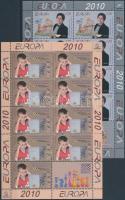 Europa CEPT Youth Eurovision song festival, Youth Chess World Cup (2010) minisheet pair, Europa CEPT Ifjúsági Eurovíziós dalfesztivál, Ifjúsági sakk VB (2010) kisív pár