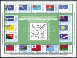 Pacific Islands Conference, Flags 2 mini sheets, Csendes-óceáni szigetek konferenciája, Zászlók 2 kisív