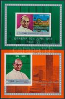 Pope Paul VI's visit 2 imperforated blocks VI. Pál pápa látogatása vágott blokkpár