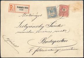 1900 5kr + Turul 25f vegyes bérmentesítés ajánlott levélen SZABADKA