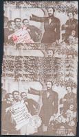2000/35 Vörösmarty Mihály 3 db emlékív garnitúra, néhány azonos sorszám, feketenyomat és sorszám nélküli példány (21.000)