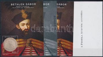2004/49 Bethlen Gábor 4 db-os emlékív garnitúra (20.000)