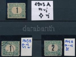 1903 Portó 2 x 1f és 2f szám és csillag vízjellel
