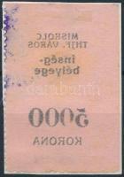 1923 Miskolc városi Ínség bélyeg 5.000K gépszínátnyomattal (8.000)