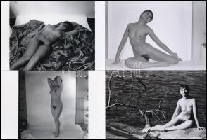 cca 1979 Mindenkinek van egy álma, 44 db vintage negatívról készült mai nagyítás, 15x10 cm / 44 erotic photo, 15x10 cm