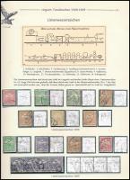 1908-1909 15 db Turul bélyeg vonalvízjellel kiállítási lapon