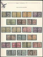 1900 Turul 2 teljes sor vastag és vékony értékszámokkal, kiállítási lapon