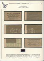 1900 5f bélyegfüzet szétszedve 4 db bélyeggel kiállítási lapon