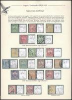 1908-1909 18 db vízjelhibás Turul bélyegkiállítási lapon