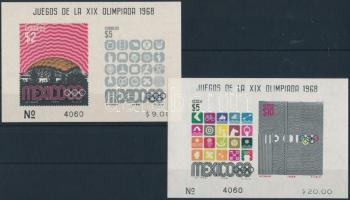 Olympics block pair (finger prints), Olimpia blokkpár (halvány ujjlenyomatok)
