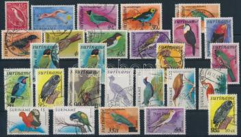 1953-1998 29 Bird stamps, 1953-1998 29 db Madár motívumú bélyeg