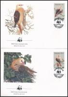 WWF: Pigeon set on 4 FDC WWF: Galamb sor 4 db FDC-n