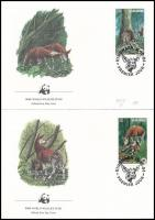 1984 WWF: Okapi sor Mi 875-878 4 db FDC-n