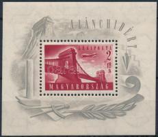 1948 Lánchíd (I.) blokk (25.000) (ráncok/creases)