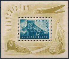 1948 Lánchíd (II.) blokk (25.000) (betapadás/ gum distrubance)
