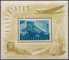 1948 Lánchíd (II.) blokk (25.000) (ráncok/ creases)