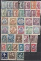 Magyar sorok gyűjteménye 1915-1947 (83.300) hozzá kevés pecsételt és modern, 10 lapos közepes berakóban
