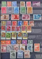 Főleg postatiszta magyar összeállítás a 30-as évektől 1970-ig (88.000) továbbá néhány száz külföldi motívum bélyeg 30 fekete lapos Schaubek A/4 berakóban
